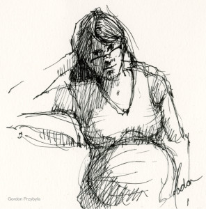 Portsmouth: June 2015 Drawings of Expectant Mother