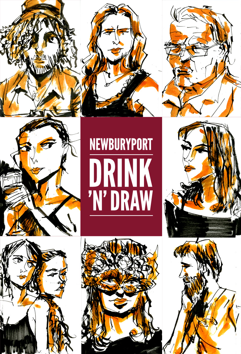 Newburyport: June 2015 Drawings by Trev Stair