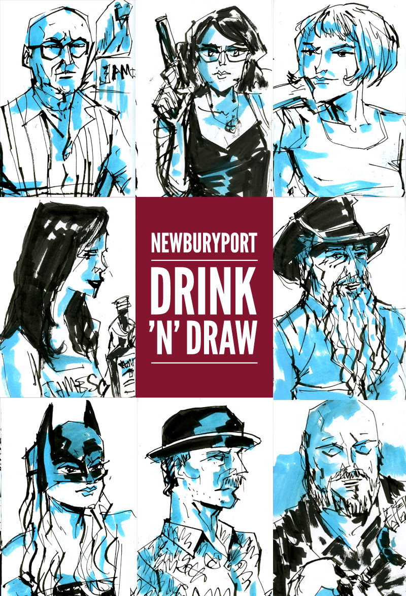 Newburyport: July 2015 Drawings by Trev Stair