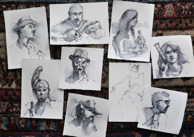 Newburyport: July 2015 Drawings by Gordon Przybyla