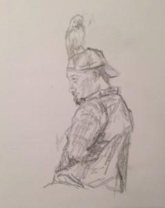 Newburyport: July 2015 Drawings by Leanne Heller
