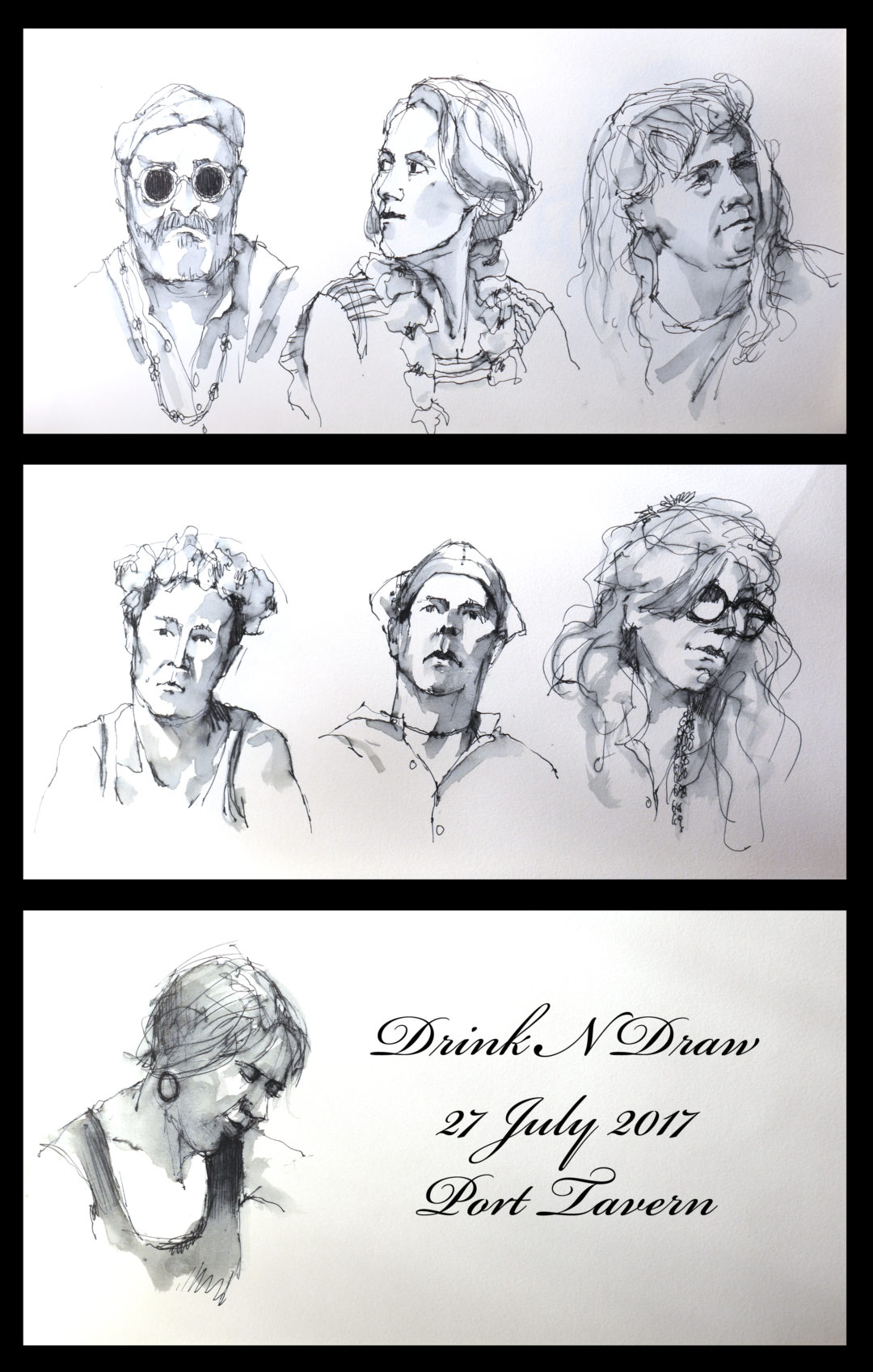 Drink N Draw Port Tavern 07/27/17