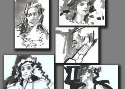 4-26-18 Drink N Draw  Jim Tinguely's work